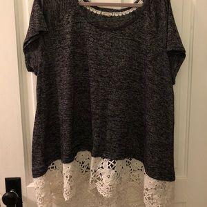 Crochet bottom shirt